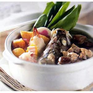 香菜皮蛋鱼片汤