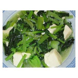 豆腐烧菜心