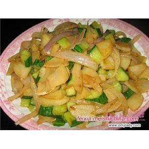 黄金菇炒黄瓜