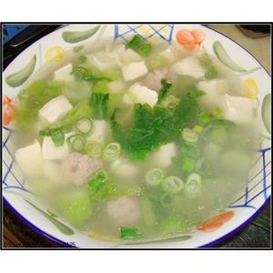 豆腐火腿菇笋汤