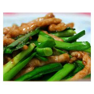 韭菜梗炒肉丝