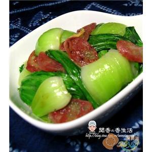 腊肠炒油菜