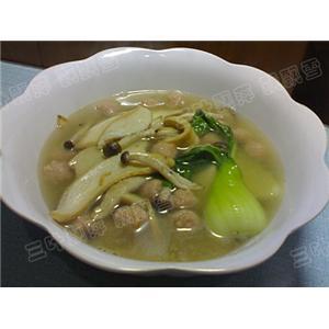 白灵菇扒油菜