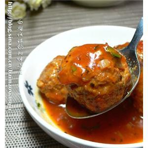 茄汁蔬菜煮肉丸