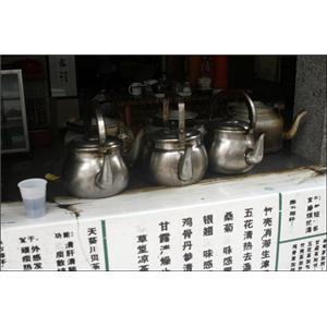 银菊双花茶