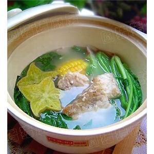 菠菜炖鱼骨