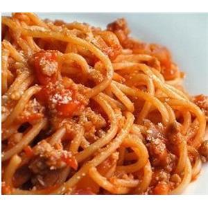 意大利面条配番茄汁