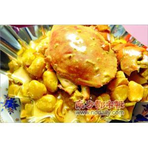 蟹肉扒鲜菇