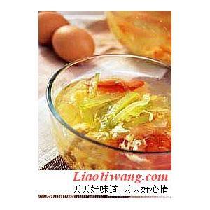 清火瓜条蛋花汤