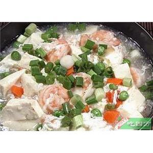 虾仁炖豆腐
