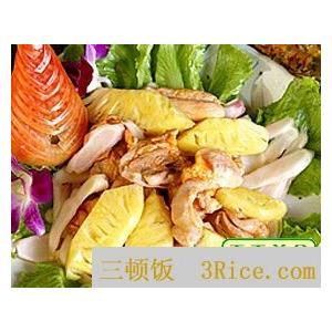 菠萝炒鸭片