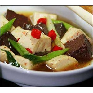 酸辣鸭血豆腐汤