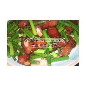 黄豆拌蒜苔