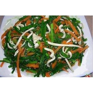 韭菜炒喉丝