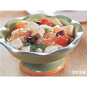 肉片炒豆腐