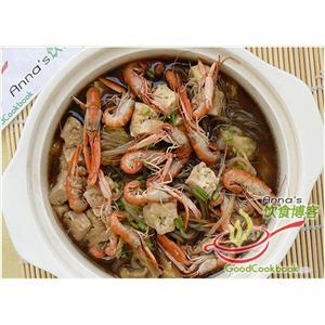 海虾白菜鸡蛋煲