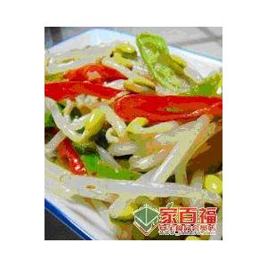 黄豆芽拌芦荟