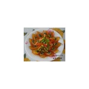 青椒拌松花
