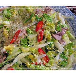 肉丝炒大头菜