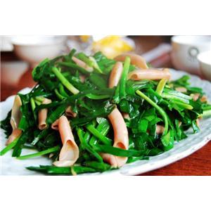 海肠炒韭菜
