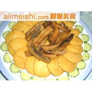 咸鱼炒饼子