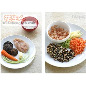 香菇鸡粒粥