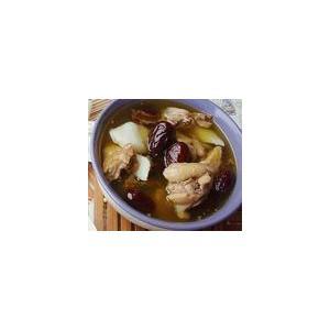 鹿胶红枣炖鸡肉