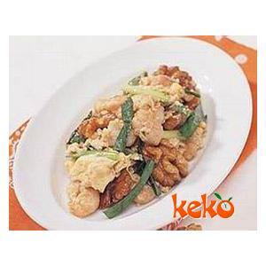 韭菜胡桃肉炒鸡蛋