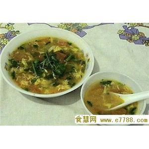 菊叶蛋花汤
