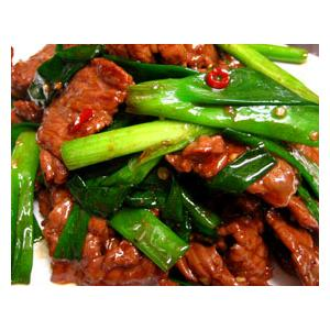 野葱炒牛肉