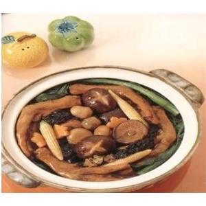 草菇煲鸭掌