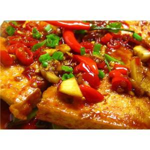 肉片炒虎皮豆腐