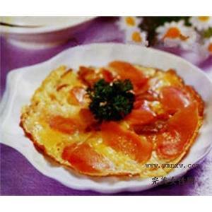 煎蛋红汁鸡