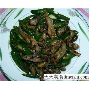 青椒炒蟹柳