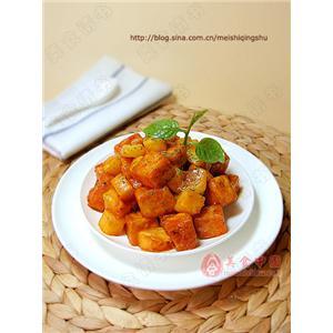 醋熘双色豆腐