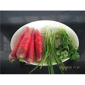 香菜拌水萝卜