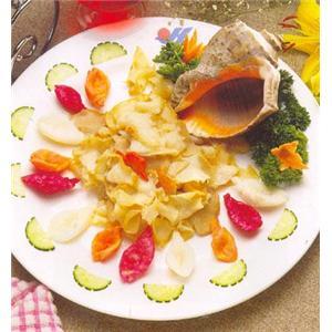 灵芝菇炒螺片