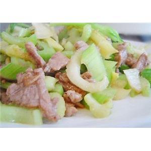 芹菜肉片汤