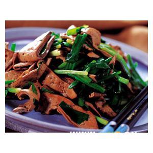 韭菜炒鸭肝