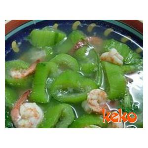 瓜环鲜虾汤