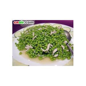 烩鸡丝豌豆