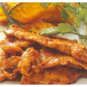 南瓜猪肉夹
