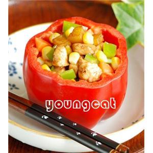 竹夹酱香鸡