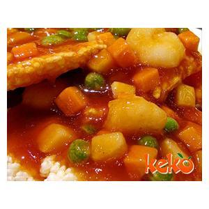 番茄虾仁锅巴