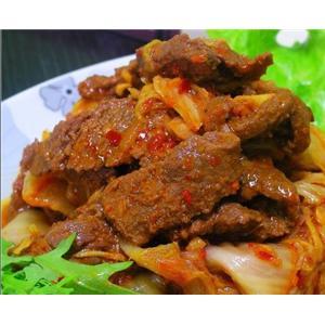 白菜炒牛肉