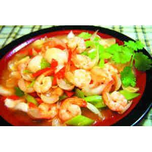 西芹炒鲜虾