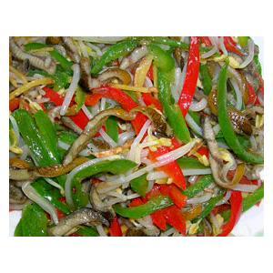 青椒炒鳝丝
