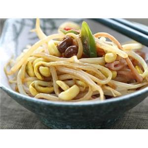 黄豆炒芥丝