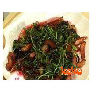 腊肉炒苋菜