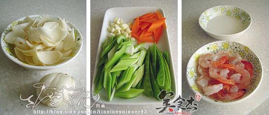 百合鲜蔬炒虾仁